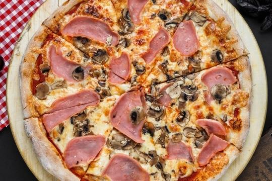 Пицца ветчина грибы